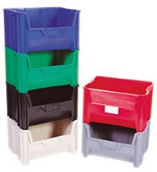 "Carton of 3-ea. 15-1/4"" D x 19-7/8"" W x 12-7/16"" H Giant Stackable Containers"