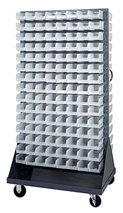 Double Sided Louvered Rack w/ 240 Clear View Bins