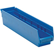 "Shelf Bins - 17-7/8""L x 4-1/8""W x 4""H, Carton of 20"