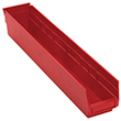 "Shelf Bins - 23-7/8""L x 4-1/8""W x 4""H, Carton of 16"