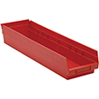 "Shelf Bins - 23-7/8""L x 6-5/8""W x 4""H, Carton of 8"