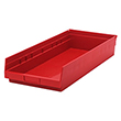 "Shelf Bins - 23-7/8""L x 11-1/8""W x 4""H, Carton of 6"
