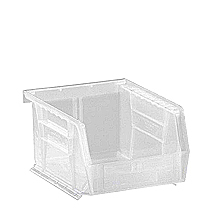 "Clear View Bins - 5-3/8"" x 4-1/8"" x 3"", Carton of 24"