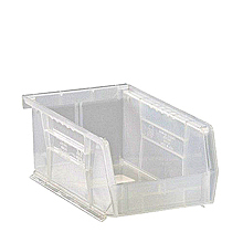 "Clear View Bins - 7-3/8"" x 4-1/8"" x 3"", Carton of 24"