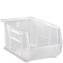 "Clear View Bins - 14-3/4"" x 8-1/4"" x 7"", Carton of 12"