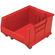 "Mobile Jumbo Stackable Containers - 23-7/8""D x 18-1/4""W x 12""H"
