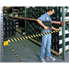 Retractable Strap Safety Barricade for Rack Aisles