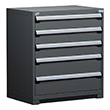 "Heavy Duty Modular Drawer Cabinet - 36""W x 18""D x 40""H, with 5 Drawers"