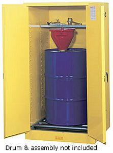 Vertical Drum Cabinet - 2 door, manual w/ drum rollers - Sure-Grip Handle, 1: 55-gal. drum