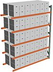 Record Archive Storage Rack - Adder with 5 Shelves - 96w x 36d x 120h - 5,080 lbs./Shelf Cap.