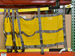 Rack Safety Straps w/ Sliding Mesh Panel - for Teardrop or Slotted Rack