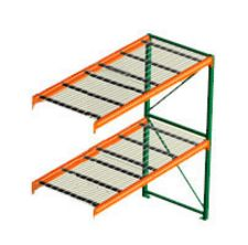"Pallet Rack with Wire Decking - Adder with 2 Beam Levels - 96""w x 36""d x 120""h"