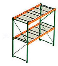 "Pallet Rack with Wire Decking - Starter, 2 Beam Levels - 96""w x 36""d x 96""h - 4000 Cap. Beams"