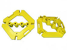 RailGuard 200 Base Plate - Safety Yellow