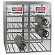 "Cylinder Safety Cabinet, 61""W x 30.5""D x 64.5""H - Stores 16 Horizontal Cylinders"