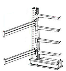 "Cantilever Rack, Extra Heavy Duty - Adder, (4) 24"" Arms - 4 Levels, 2000 Lbs. Cap."