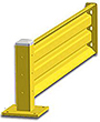 3ft. W x 18 in. H Steel Guard Rail - Single High Adder
