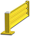 7ft. W x 18 in. H Steel Guard Rail - Single High Adder