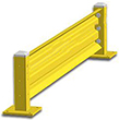 10ft. W x 18 in. H Steel Guard Rail - Single High Starter
