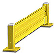 Lift-Out Steel Guard Rail - Single High Starter at 120 inch Post centers