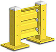 1ft. W x 18 in. H Steel Guard Rail - Single High Starter
