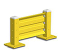 2ft. W x 18 in. H Steel Guard Rail - Single High Starter