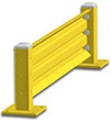 3ft. W x 18 in. H Steel Guard Rail - Single High Starter