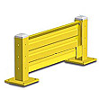 Lift-Out Steel Guard Rail - Single High Starter at 36 inch Post centers
