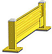 Lift-Out Steel Guard Rail - Single High Starter at 72 inch Post centers
