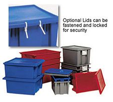 Lids for Model No. SNT 180 or SNT 185 Stack & Nest Totes - Carton of 6