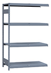 "Medium Duty Mini-Rack Shelving - 48"" W x 24"" D x 75""H, Adder w/ 4 Shelves & Steel Decking"