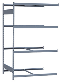 "Medium Duty Mini-Rack Shelving - 48"" W x 36"" D x 75""H, Adder w/ 4 Shelves"