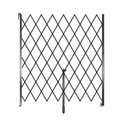 "Retractable Folding Gate, Single, 8' - 9' W, 8' 6"" Collapsed Ht, 8' Expanded Ht"