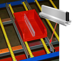"Standard Guide Rail for 96"" Deep Carton Flow Shelf"