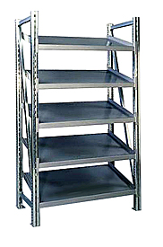 "Steel Pick Shelving - 5 Level, Single - Tilt, 78""h x 50""w x 20""d, Starter"