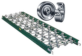 "Aluminum Skatewheel Conveyor - 10 ft. long, 12"" wide"