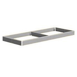 "Extra Shelf - 96"" x 18""- no decking, center supports, channel beam"