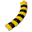 Sidewinder Cable Protective Cover, Adder - 1'L, Black & Yellow