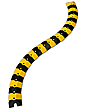 Sidewinder Cable Protective Cover - 3'L, Black & Yellow