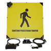 "Double-Sided 12"" Interactive LED Safety Sign"