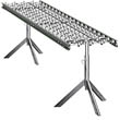 "Aluminum Skatewheel Conveyor - 10' long, 24"" wide, with tripod supports"