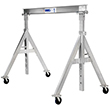 "Adjustable Aluminum Gantry Crane - 0.5 Ton Cap., 6' 11"" Clear Span, 6' 6"" to 9' Under Beam Ht."