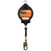 Self Retracting Fall Protection Lanyard, 50' Cable, 310 lb. Capacity, ANSI Class B