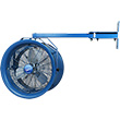 "Dock & Truck Cooler Fan -  18"" Dia., 115v / 1ph, 1/2-HP, 25"" Swivel Arm Mount"