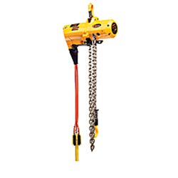 High Speed Air Powered Low Headroom Hoist - 1 Ton, 10'' Lift, Pendant Control