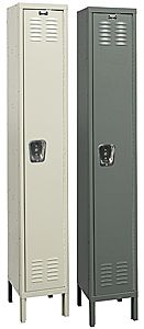 "Wardrobe Locker - Single Tier, 1 wide, 12""w x 18""d x 60""h opening"