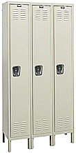 "Wardrobe Locker - Single Tier, 3 wide, 15""w x 24""d x72""h opening"