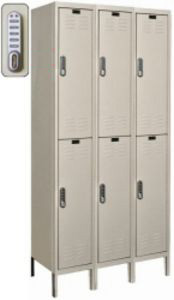 "3 Wide Double Tier DigiTech Electronic Access Locker - 12""w x 12""d x 36""h"
