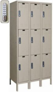 "3 Wide Triple Tier DigiTech Electronic Access Locker - 12""w x 18""d x 24""h"
