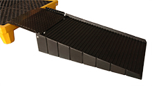 "Polyethylene Ramp with 21"" Steel Plate"